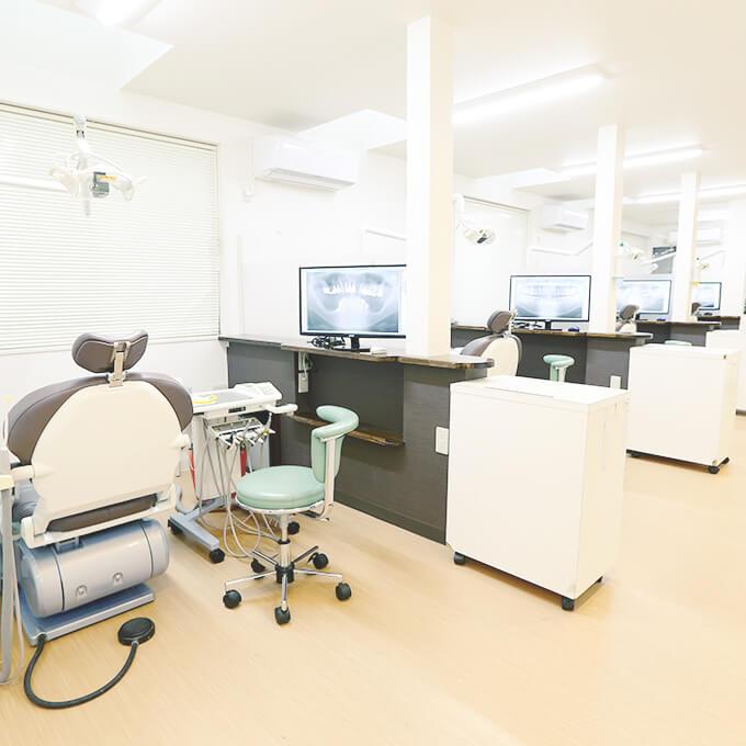 バリアフリーの治療室